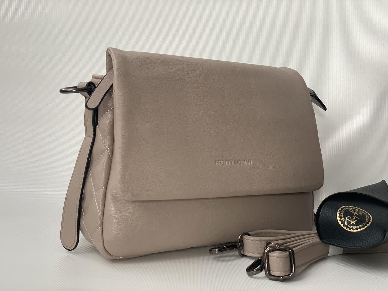 Світло-кавова жіноча сумка Pretty Woman
