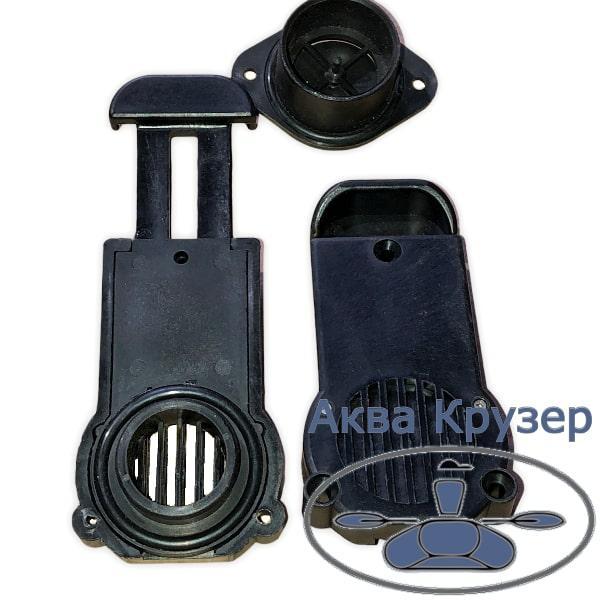 Клапан сливной транцевый BRAVO толщина транца 36-42 мм для надувных лодок ПВХ, чвет черный
