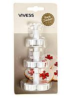 """Формочки для вырезания печенья """"Цветок"""" - набор VIVESS (PM1-10105)"""