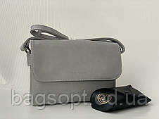 Серая маленькая сумочка клатч Pretty Woman