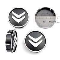 Колпачки заглушки на литые диски CITROEN 60/55мм, фото 1