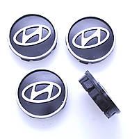 Колпачки заглушки на литые диски Hyundai 60/55мм, фото 1