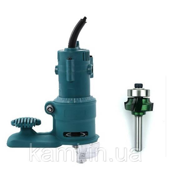 Ручной фрезер AH703-1 для обработки кромки (с пяткой и фрезой R2)