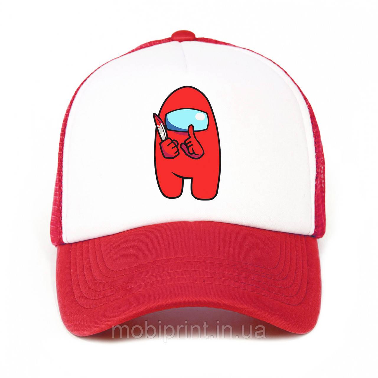 Детская кепка с сеткой и принтом Among Us Red