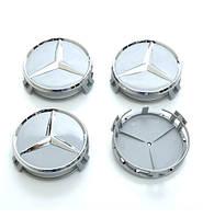Ковпачки заглушки на литі диски Mercedes 75/70мм