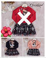 Детское расклешенное платье-обманка MUSIC для девочки 2-5 лет,цвет уточняйте при заказе