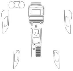 Комплект викрійок для салону JAGUAR F-PACE 2016