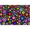 """Фетр с рисунком цветочный принт """"Цветы абстракция"""" ЦП017"""