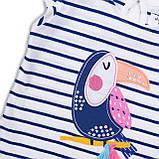 Детская футболка для девочки 1,5-2 года, 86-92 см Minoti, фото 3
