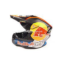 Шлем кроссовый KTM-BULL (size: XL, черно-оранжевый)