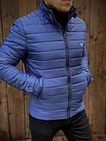 Чоловіча стильна демісезонна куртка з коміром стійкою