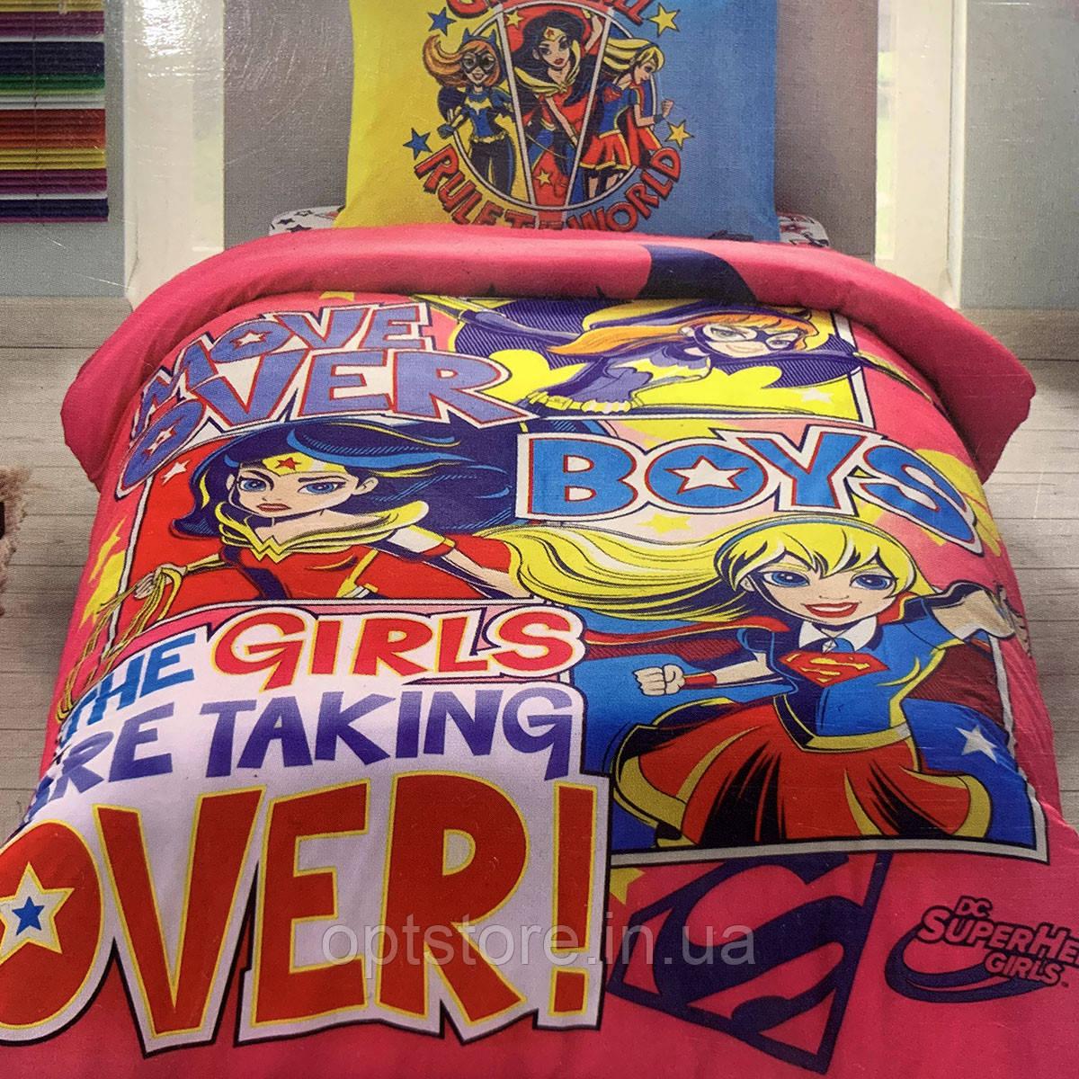 Детское и подростковое постельное белье TAC Супер герои  ранфорс / простынь на резинке
