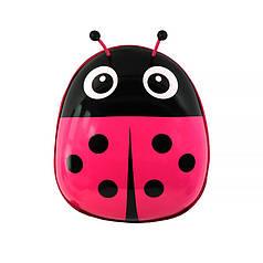 Дитячий рюкзак з твердим корпусом Lesko 229 Ladybug Pink для прогулянок