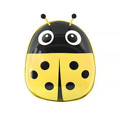 Дитячий рюкзак з твердим корпусом Lesko 229 Ladybug Yellow для прогулянок