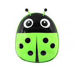 Дитячий рюкзак з твердим корпусом Lesko 229 Ladybug Green для прогулянок