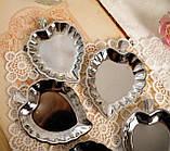П'ять вінтажних икорниц - листочків, хромований метал, Англія, вінтаж, фото 3