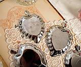 П'ять вінтажних икорниц - листочків, хромований метал, Англія, вінтаж, фото 6