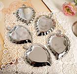 П'ять вінтажних икорниц - листочків, хромований метал, Англія, вінтаж, фото 5