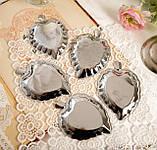 П'ять вінтажних икорниц - листочків, хромований метал, Англія, вінтаж, фото 10