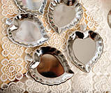 П'ять вінтажних икорниц - листочків, хромований метал, Англія, вінтаж, фото 4