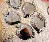 П'ять вінтажних икорниц - листочків, хромований метал, Англія, вінтаж, фото 7