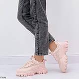ТОЛЬКО на 25,5 см! Кроссовки женские розовые/ коралловые эко-кожа+ текстиль, фото 6