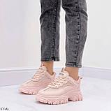 ТОЛЬКО на 25,5 см! Кроссовки женские розовые/ коралловые эко-кожа+ текстиль, фото 8