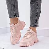 ТОЛЬКО на 25,5 см! Кроссовки женские розовые/ коралловые эко-кожа+ текстиль, фото 9