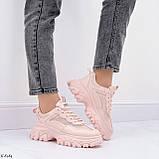 ТОЛЬКО на 25,5 см! Кроссовки женские розовые/ коралловые эко-кожа+ текстиль, фото 10