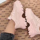 ТОЛЬКО на 25,5 см! Кроссовки женские розовые/ коралловые эко-кожа+ текстиль, фото 2