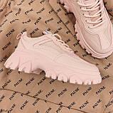 ТОЛЬКО на 25,5 см! Кроссовки женские розовые/ коралловые эко-кожа+ текстиль, фото 4