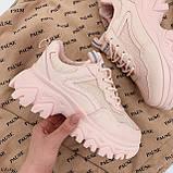 ТОЛЬКО на 25,5 см! Кроссовки женские розовые/ коралловые эко-кожа+ текстиль, фото 3