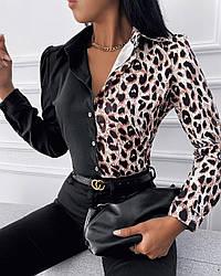 Жіноча сорочка з леопардовим принтом