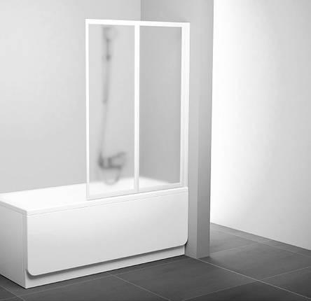 Шторки д/ванны складные VS 2 105 white (Rain), фото 2