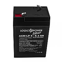 Аккумуляторная батарея Logicpower 6V 4.5 Ah (LP 6 - 4.5 AH) AGM, фото 1