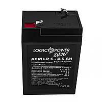 Акумуляторна батарея Logicpower LP 6V 4.5 Ah (LP 6 - 4.5 AH) AGM, фото 1