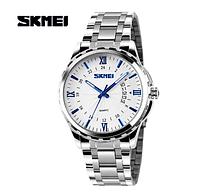 Годинники кварцові Skmei 9069 металевий браслет blue