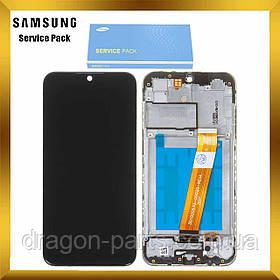 Дисплей Samsung A015 Galaxy A01 2020 с сенсором Черный, Синий, Красный с рамкой оригинал , GH81-18209A