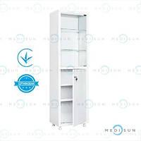 Медичний шафа MD 1 1650/SG MEDNOVA (металева шафа однодверна)