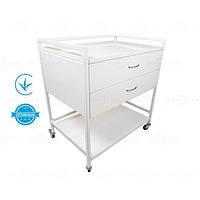 Стол для инструментов, медицинский для анестезиолога СТ-А MEDNOVA, стол металлический передвижной