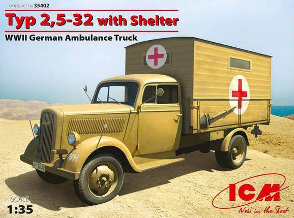 ICM 1/35 Typ 2,5-32 with Shelter, фото 2