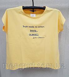 Женские футболки с принтом размеры 52-60
