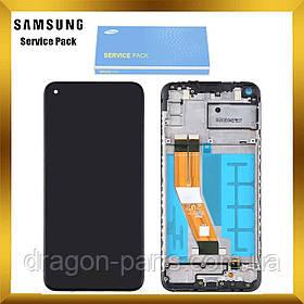 Дисплей Samsung A115 Galaxy A11 с сенсором с рамкой Черный, Красный, Белый оригинал , GH81-18760A
