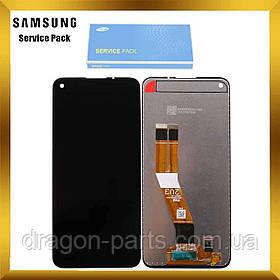 Дисплей Samsung A115 Galaxy A11 с сенсором без рамки Черный, Красный, Белый оригинал , GH81-18760A