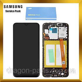 Дисплей Samsung A202 Galaxy A20e 2019 с сенсором Черный Black оригинал, GH82-20186A
