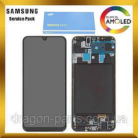 Дисплей Samsung A205 Galaxy A20 2019 с сенсором Черный Black оригинал , GH82-19571A