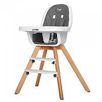 Функциональный детский стульчик для кормления CARRELLO Prego CRL-9504 PALETTE GREY, фото 1