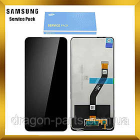 Дисплей Samsung A215 Galaxy A21 с сенсором Без рамки Черный, Зеленый, Синий оригинал , GH82-10599A БР