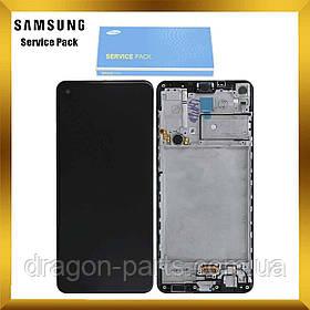 Дисплей Samsung A217 Galaxy A21s 2020 с сенсором Черный, Белый, Синий с рамкой оригинал , GH82-22988A
