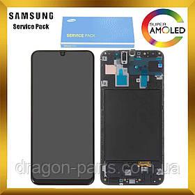 Дисплей Samsung A305 Galaxy A30 2019 с сенсором Черный Black оригинал , GH82-19202A